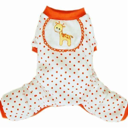 Dog Pajamas | Orange Giraffe