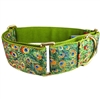 Peacock Garden Martingale Dog Collar