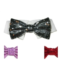 Snazzy Sequin Bow Tie and Collar