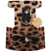 Leopard Print Leather Designer Dog Harness