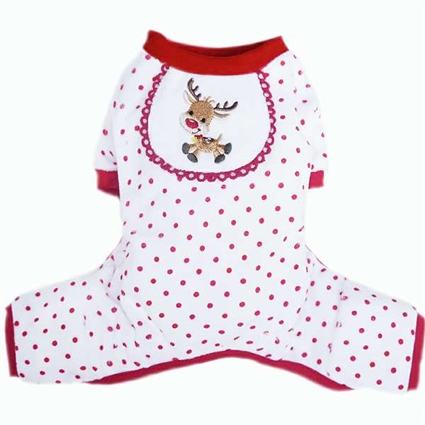 Dog Pajamas | Red Reindeer | Christmas | Onesie