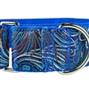 Peacock Strut Silk Martingale Dog Collar