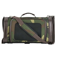 Camouflage Designer Dog Cat Pet Carrier | Airline Approved