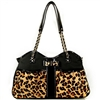 Designer Dog Purse Carrier | Leopard Metro Couture