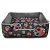 Sugar Skulls and Roses Designer Dog Bed