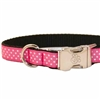 Pink Polka Dots Dog Collar