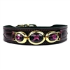 Regal Beauty Bordeaux Designer Leather Dog Collar