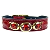 Ruby Red Patent Leather Designer Dog Collar