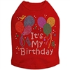 Red Birthday Rhinestone Dog Shirt