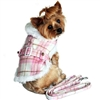 X-Small Dog Coat | Pink and White Plaid