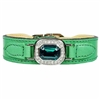 Emerald Leather Designer Dog Collar | Haute Couture