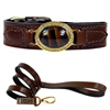 Leather Designer Dog Collar | Chocolate Estate