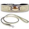 Bone Leather Designer Dog Collar