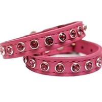 Baby Girl Pink Bling Leather Dog Cat Collar