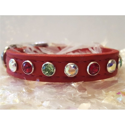 Colors of Christmas Bling Small Dog Cat Collar