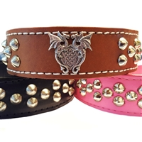 Studded Leather Dog Collars | Dragon Heart