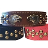 Eagle Heads Studded Leather Dog Collars