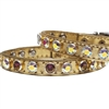 Gold Nugget Cat Kitten Bling Collars | Leather
