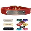 Custom Dog Collar with Name Plate | Leather