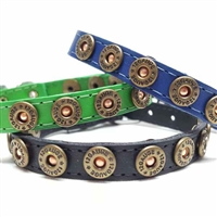 Shotgun Shell Puppy Collars | Leather