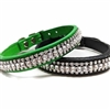 Fancy Diamonds Bling Dog Cat Collars | Leather
