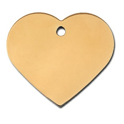 Dog ID Tags | Brass Heart  | Personalized
