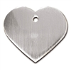 Dog ID Tags | Brushed Chrome Large Heart | Personalized