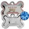 Dog Collar ID Tag | Swarovski Pave Princess