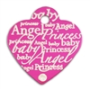 Dog Cat ID Tags | Pink Heart with Clear Crystal