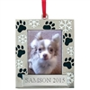 Pet Photo Frame | Paw and Snowflake | Personalized, Engraved