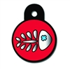 Cat Kitten ID Tags | Red Fish Skeleton | Personalized
