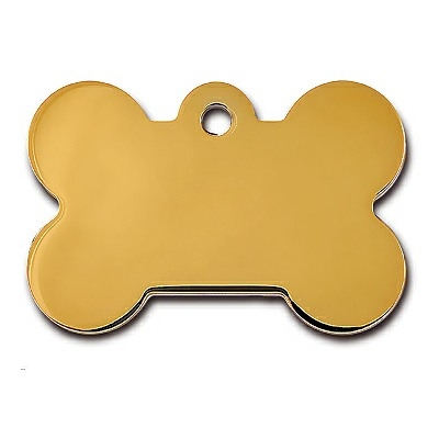 Dog ID Tags | Brass Bone | Personalized