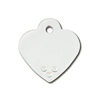 Designer Dog Cat ID Tags | AB Crystals Heart