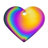 Dog Cat ID Tags | Rainbow Heart  | Personalized