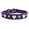 Purple Leather Dog Cat Collars | Sweetheart Bling