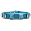 Turquoise Leather Dog Cat Collars