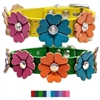 Fancy Flowers Leather Designer Dog Collars | Custom