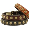 Star Studded Leather Dog Collar