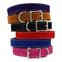 Saratoga Suede Leather Dog Collars