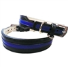 Thin Blue Line Leather Dog Collars | Police Motif