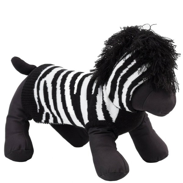 3edb52395c2 Zebra Hooded Dog Sweater