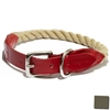 Leather and Rope Dog Collars