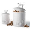Woof Ceramic Dog Treat Jar