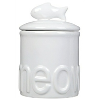 Meow Ceramic Cat Treat Jar