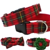 Classic Christmas Plaid  Dog Cat Collar
