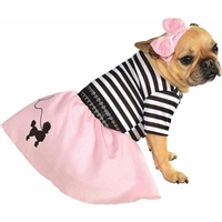 50s Girl Poodle Skirt Halloween Dog Costume