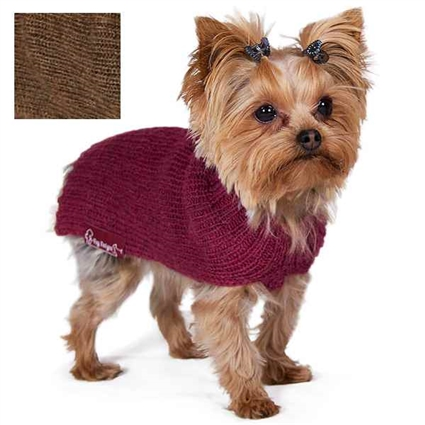 Alpaca Ribbed Small Dog Sweater