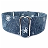 Martingale Greyhound Dog Collar | Metallic Stars