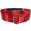 Dragonfly Wings Red Martingale Dog Collar