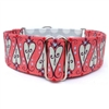 Scroll Hearts Martingale Lupine Dog Collar